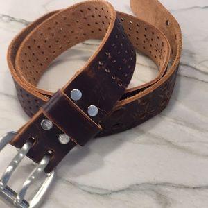 """Leather belt size 35"""" unisex"""